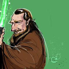 Liam Neeson als Qui Gon Jin aus der Star Wars Saga