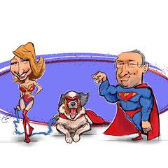 Personalisierte Karikatur nach Fotovorlage