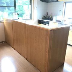 オーダーキッチン仕切り壁・別注家具作成・宝塚市