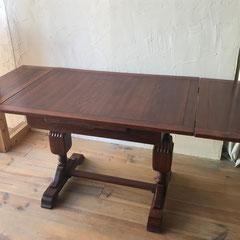 テーブル修理アンティークテーブル塗装修理後
