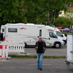 Ankunft in Breisach - ein Begüßungstrunk