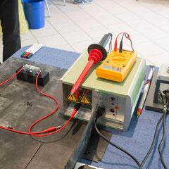 Funkenstrecken-Testaufbau von hinten