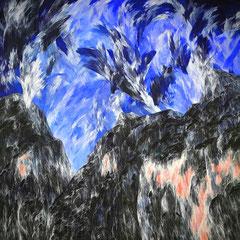 Abb. 1: Josef Taucher, Zwielicht 19, Juni 2005, Öl/Molino, 300 x 300 cm (Diptychon), Foto: F. Sattler