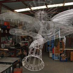St Gabriel fabrication in studio. © Charles Rocco