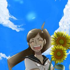 向日葵の笑顔 夏樹ちゃん