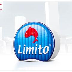 Kundenlogo Inflatables Werbung in Sonderform