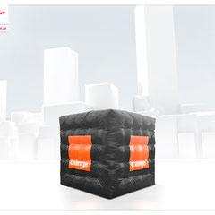 Würfel Inflatables Werbung in Sonderform