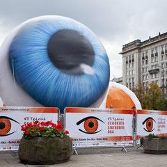 Aufblasbares Objekt Auge Aufblasbare Werbung in Sonderform
