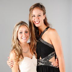 best friends Fotostudio Abiball Freundinnen
