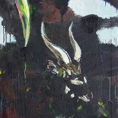 Nyala, Oil on canvas,  92 x 52cm, 2017