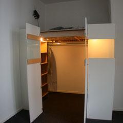 hochbett mit schrank mirko danckwerts m belgestaltung. Black Bedroom Furniture Sets. Home Design Ideas