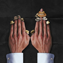 aus Serie Fingerhüte:sei auf der Hut