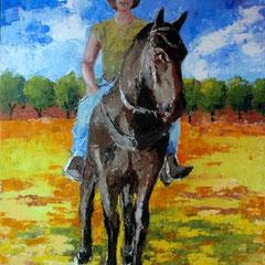 2011 - Verso casa - olio a spatola su tela - 70x50 cm