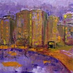 """2015 - """"ED E' SUBITO SERA"""" - olio a spatola su tela - 70x50 - 2015 - collezione privata"""