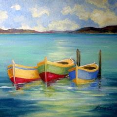 2010 - Quiete lacustre - olio su tela - 50x60 cm - collezione privata