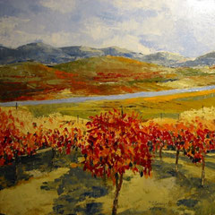 2010 - Autunno tra le vigne - olio su tela - 60x60 cm