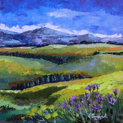 2011 - Estate in Lessinia -olio a spatola su tela - 60x60 cm