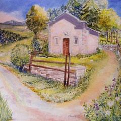 2010 - Nell'abbraccio dei Monti Lessini - olio su tela - 50x50 cm - collezione privata