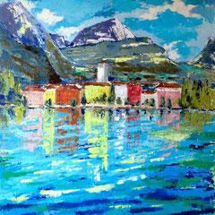 2012 - Verso Riva - Olio a spatola su tela - 80x60 cm