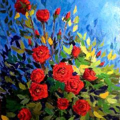 2012 - In Love - olio a spatola su tela - 80x60 cm