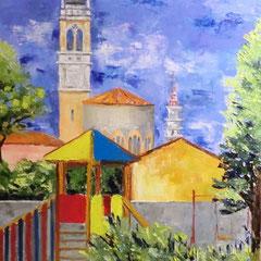 2011 - Tombetta per gioco, Santa Teresa per Amore - olio a spatola su tela - 70x50 cm - opera segnalata concorso l'Arte Racconta i Quartieri ed. 2011