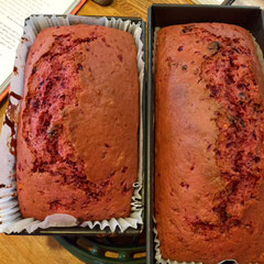 tea time cake with beets and carrots