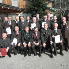 2014-Vorstand mit den Geehrten