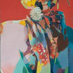 GEISHA 2011  EITEMPERA 80 x 42 cm
