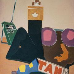CARIBBIAN DREAM  1970/71  EITEMPERA 105 x 70 cm