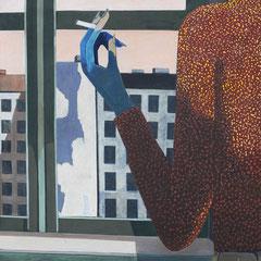 BERLIN AM MEER  1972  EITEMPERA  100 x 95 cm
