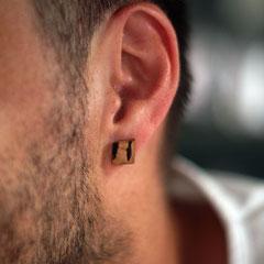 Ohrring aus Birnbaum