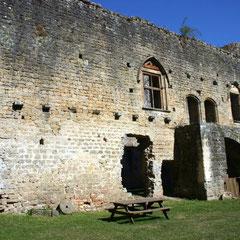 une vue du château