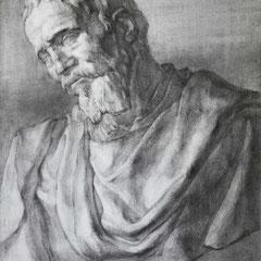 ミケランジェロの石膏デッサン