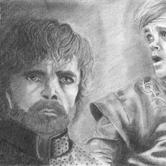 """Mein Weihnachtsgeschenk an meinen lieben Mann :-) A4 Grafithzeichnung von """"Thyrion"""" von Game of Thrones"""