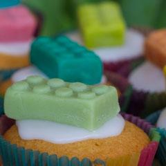 Legokuchen Legomuffin Kindergeburtstag