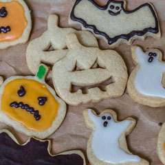 Halloween-Kekse aus Mürbeteig