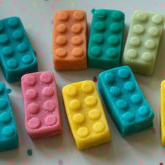 Legosteine aus Marzipan