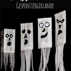Gespenstergirlande für Halloween