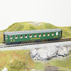 Schnellzugwagen der Gotthardbahn, 3. Klasse, GB, Epoche I C4ü, 1260 Ergänzungswagen mit LED Schlusslicht