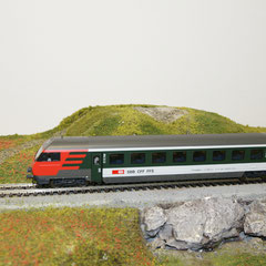42178 Märklin SBB EW IV Steuerwagen, grün/grau