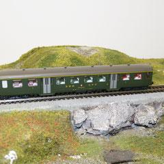 Liliput 877 50 SBB-Personenwagen A, grün, 1. Klasse