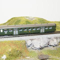 3x Liliput 876 50 SBB-Personenwagen B, grün, 2. Klasse