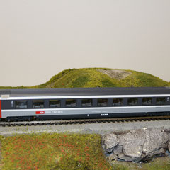44770 Roco SBB Eurocity Personenwagen grau 2. Kl