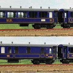 Liliput L350115 Set Gotthard-Bahn blau, A4ü, 2x B4ü, F4ü