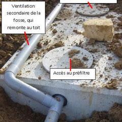Fosse toutes eaux et ventilation