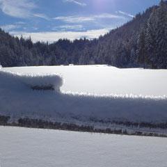 Kalter Wintertag an der Esterbergalm.