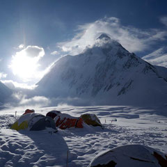Lager I am Gasherbrum, Gasherbrum II, Gasherbrum 2, Gasherbrum Expedition