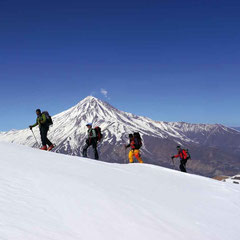 Skitouren Damavand im , Damavand 5.671m, Damavand Iran, Skitour auf den Damavand, Damavand 2017