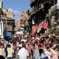 Mera Peak Trekking, Kathmandu, Einkaufsviertel Thamel