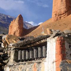 Gebetsmühlen in Mustang